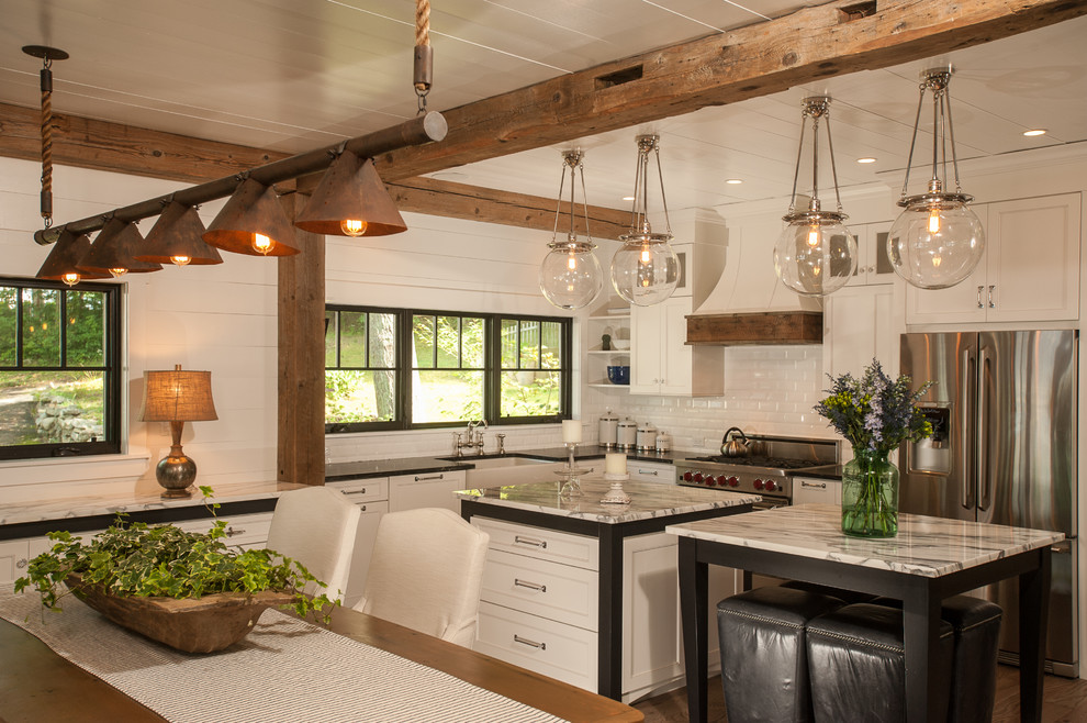 rustic lighting fixtures Kitchen Rustic with black white black and white black stools glass ball pendant lights kitchen