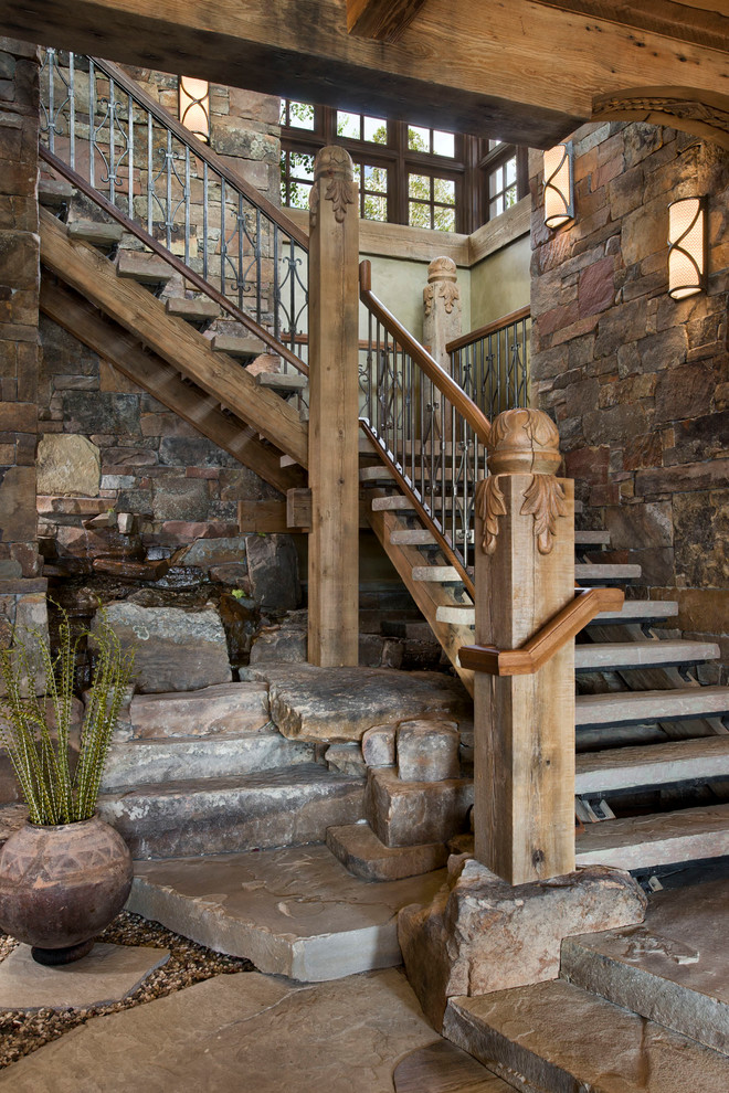 Rustic Lighting Fixtures Staircase Rustic with Newel Post Open Risers Rustic Light Fixtures Rustic Staircase Rustic Wood Staircase