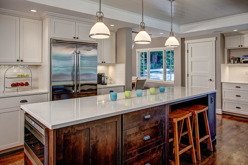 Saddle Seat Bar Stool Kitchen Traditional with Buffet Cabinet Furniture City View Dme Dme Construction Entertaining Night Lighting Oak