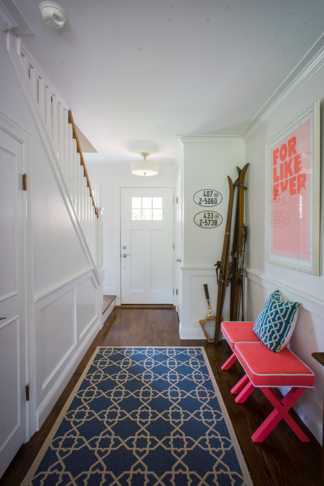 Safavieh Rugs Entry Transitional with Bench Ceiling Light My Houzz Rug Runner Staircase Wall Art
