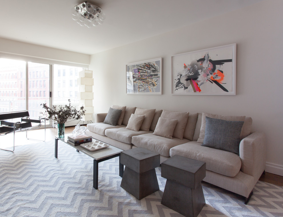 Safavieh Rugs Living Room Contemporary with Aoh Design Coffee Table Contemporary Artwork Flos Knoll Light Gray Sofa Long