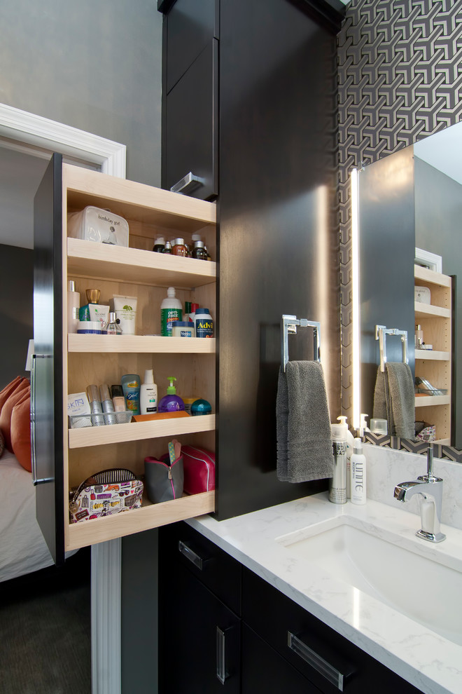 Sauder Storage Cabinet Bathroom Contemporary with Bathroom Storage Cambria Countertops Custom Cabinets Medicine Cabinet Minneapolis Pull Out Cabinet