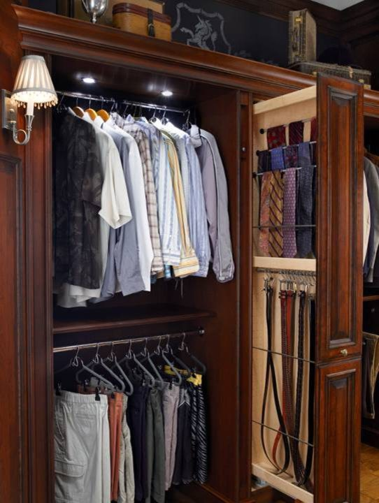 Schiek Belt Closet Traditional with Brookhaven Cabinet Innovations Closets Custom Cabinets Traditional Wood Mode
