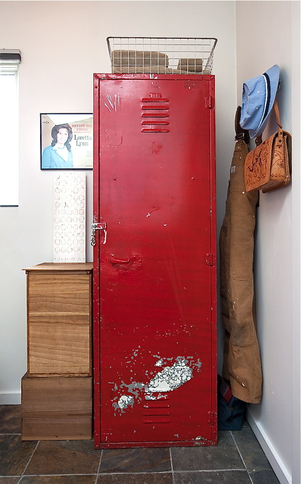 School Lockers for Sale Entry Shabby Chic with Baseboard Blinds Coat Hook Distressed Red Storage Locker Tile Floor White Walls