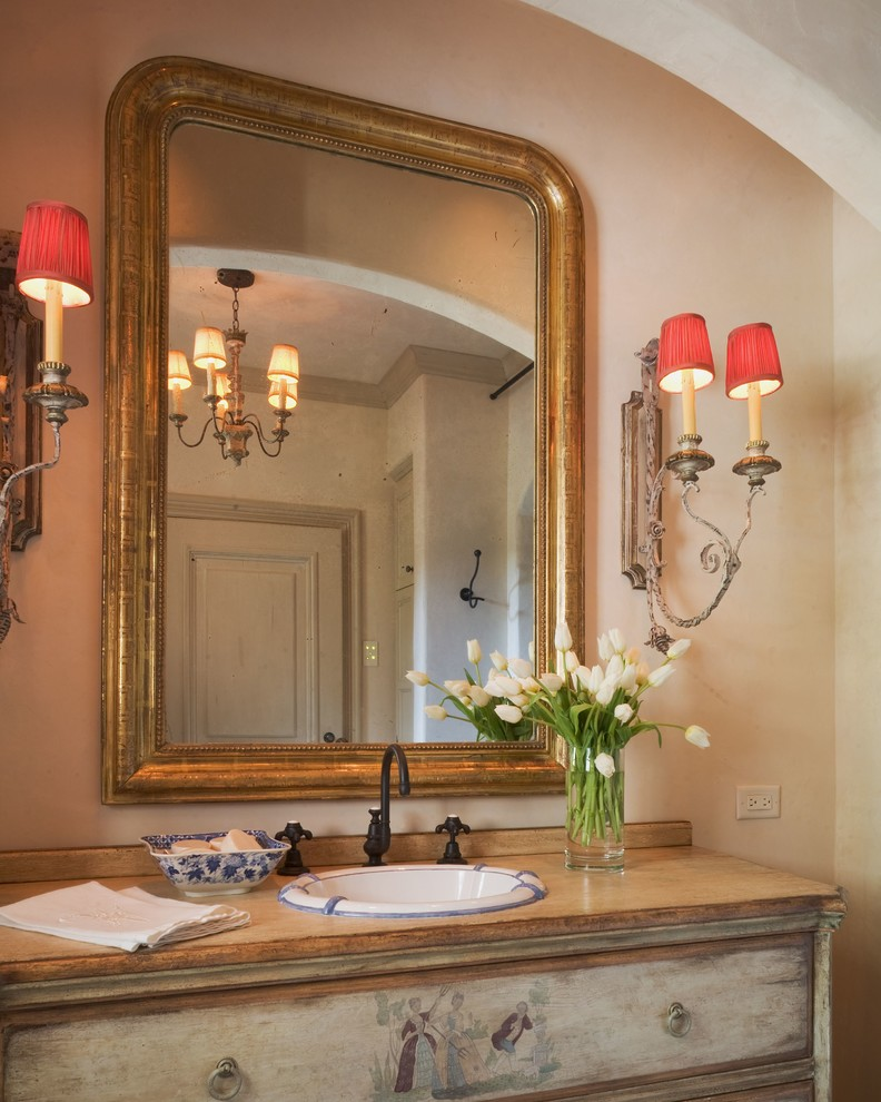 Sconce Shades Bathroom Mediterranean with Bath Bathroom Country French Gilt Mirror Mirror Powder Bath Red Lamp Shades