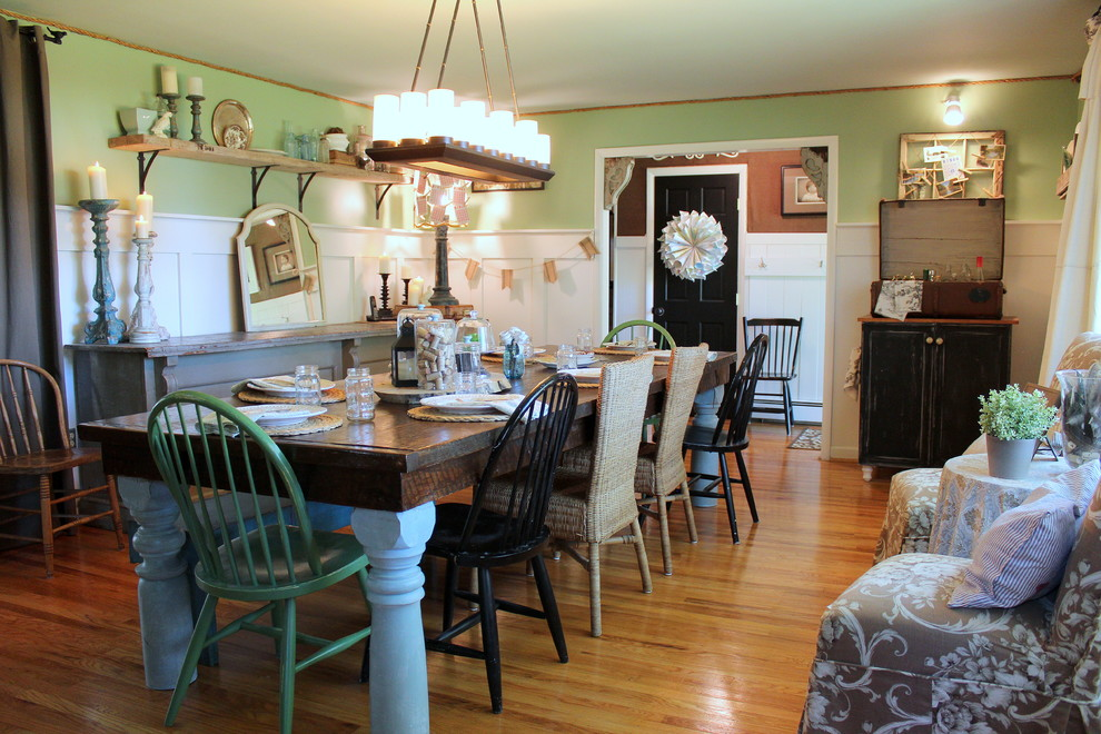 Sea Gull Lighting Dining Room Shabby Chic with Farmhouse Dining Table Farmhouse Table Light Blue Table Legs Light Green Half