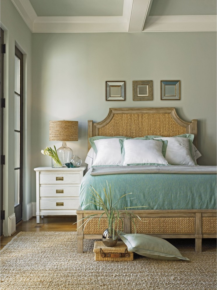 Seagrass Headboard Bedroom Tropical with Coastal Living Resort Bedroom Collection Coastal Living Resort Collection Water Meadow Woven