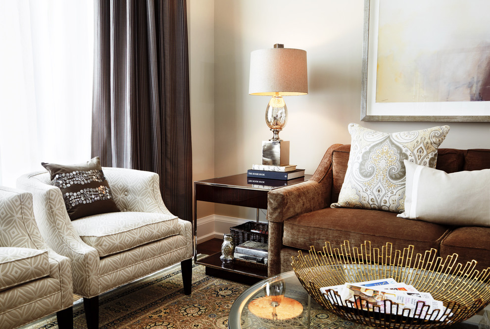 Sealy Pillows Living Room Modern With Area Rug Brown Sofa Decorative Pillows Earth Tone Colors