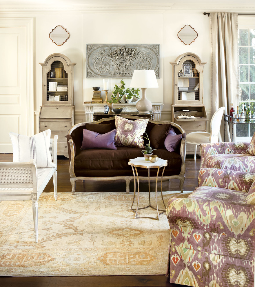 Secretary Desk with Hutch Living Room Traditional with Ballard Designs Casa Florentina Living Room