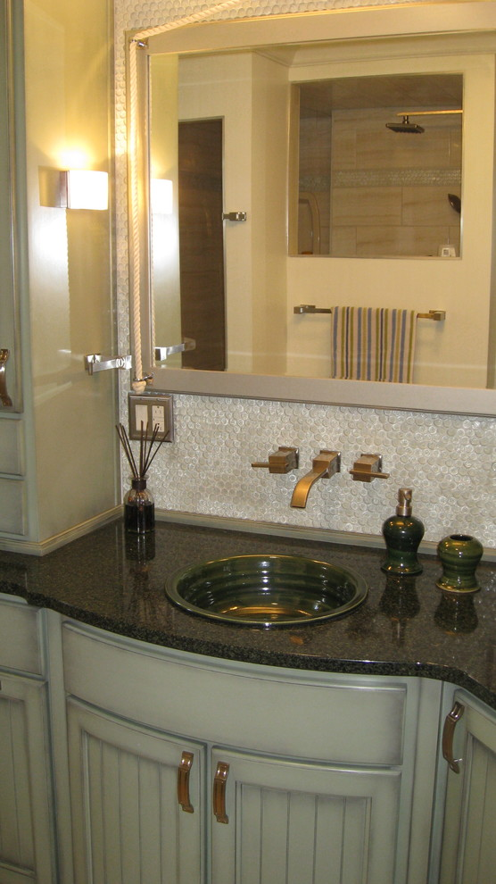 Self Rimming Sink Bathroom Transitional with Artist Made Sinks Pottery Sinks Self Rimming Sinks Stoneware Sinks 2