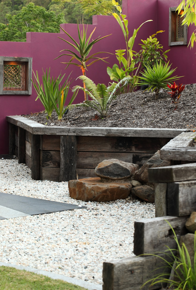 Serta Perfect Sleeper Landscape Tropical with Colorful Wall Ferns Garden Wall Gravel Magenta Wall Recycled Timber Retaining Walls