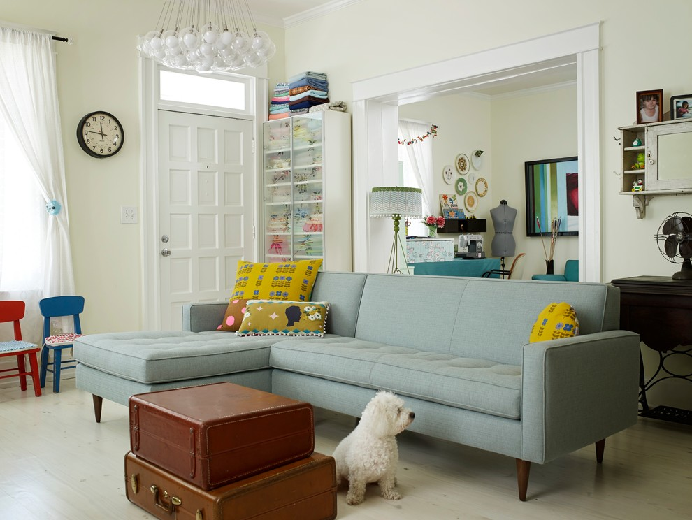 Serta Sofa Living Room Eclectic with Atlanta Blue Blue Kids Chair Chairs Chandelier Clock Cluster Pendant Light Decatur