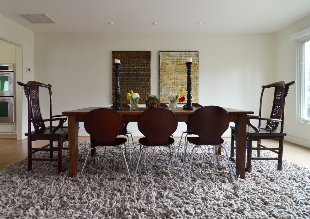 Shag Rugs Dining Room Transitional with Art Candle Sticks Centerpiece Chinese Chairs Farm Table My Houzz Rope Rug