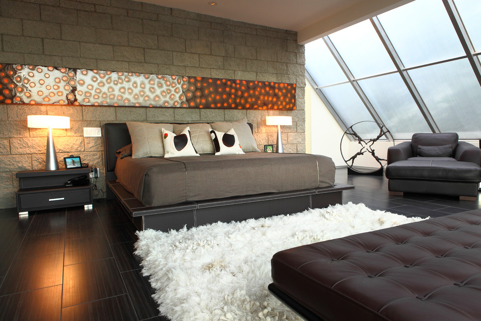 Shaggy Rugs Bedroom Contemporary with Artwork Bed Brown C Contemporary Deep Shag Rug Fabric Frosted Glass Glass