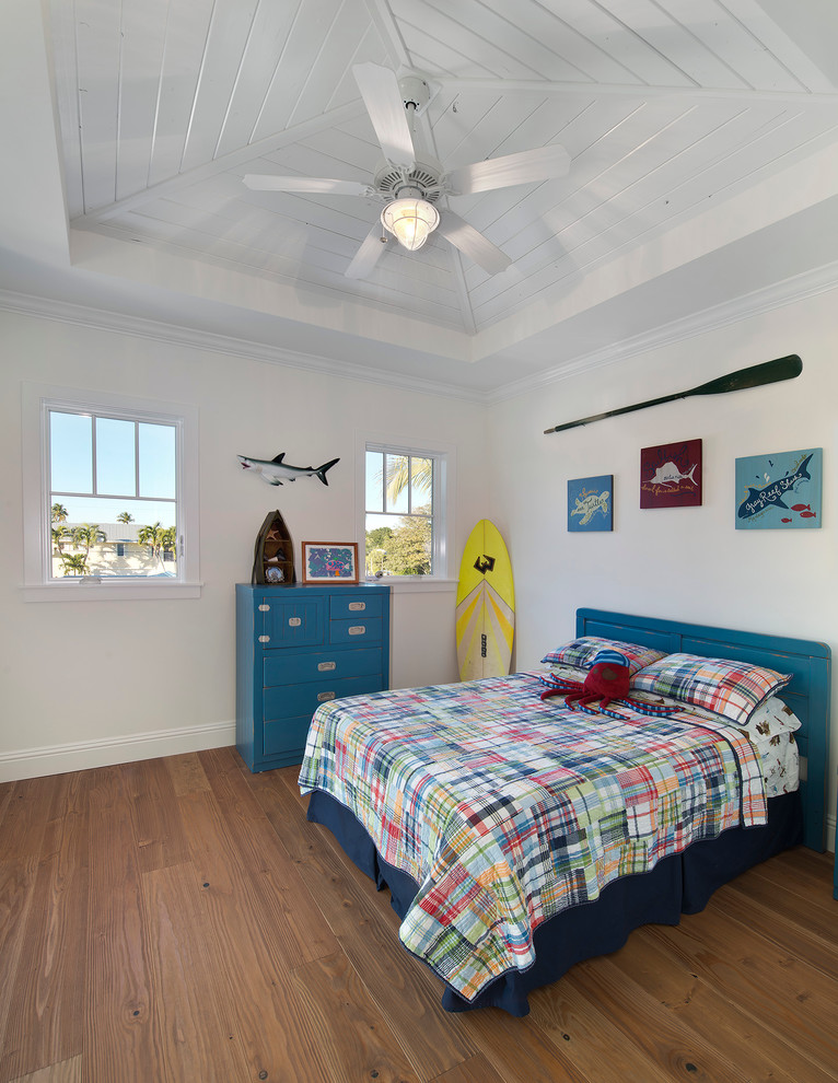Shark Cordless Kids Tropical with Bed Blue Ceiling Fan Color Florida Bedroom High Ceiling Island Bedroom Tropical