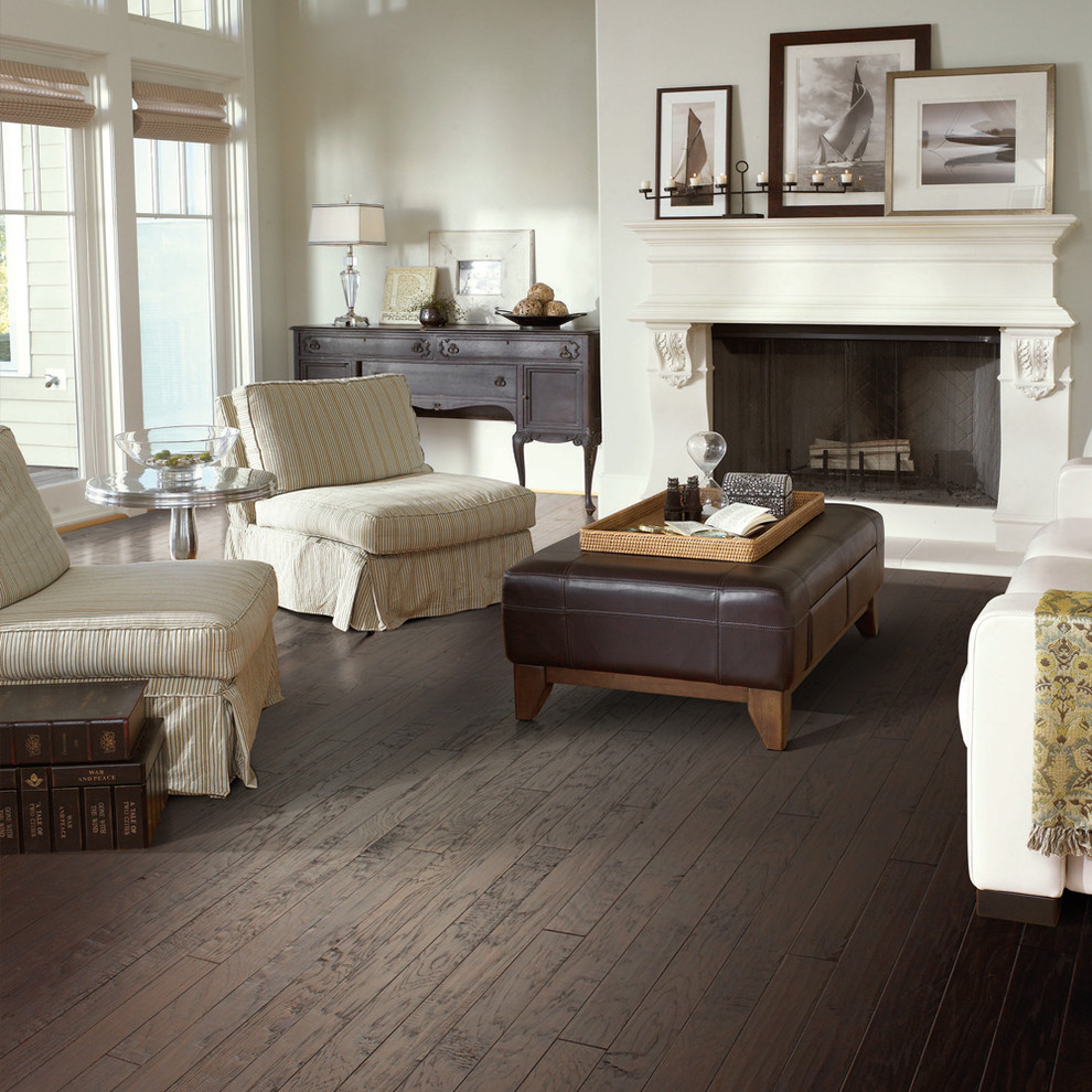 Shaw Hardwood Living Room Traditional with None