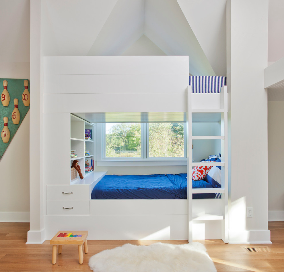 Sheep Skin Rug Kids Traditional with Bed Storage Blue Bedding Built in Bunk Bed Bunk Beds Eaves Sheep