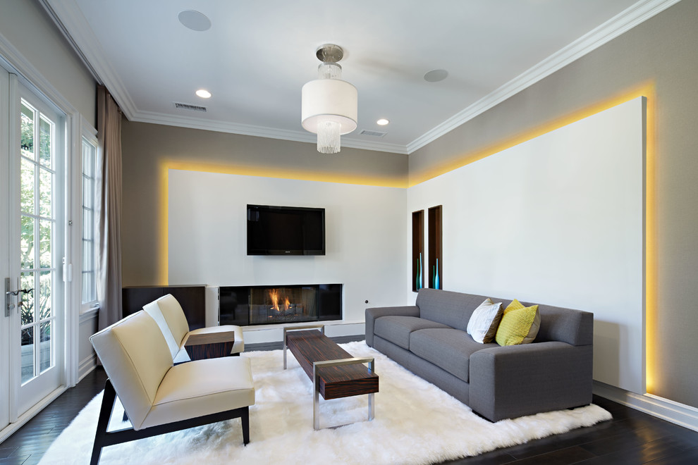 Sheepskin Rug Living Room Contemporary with Ambient Light Area Rug Contemporary Living Room Cove Lighting Crown Molding Dry