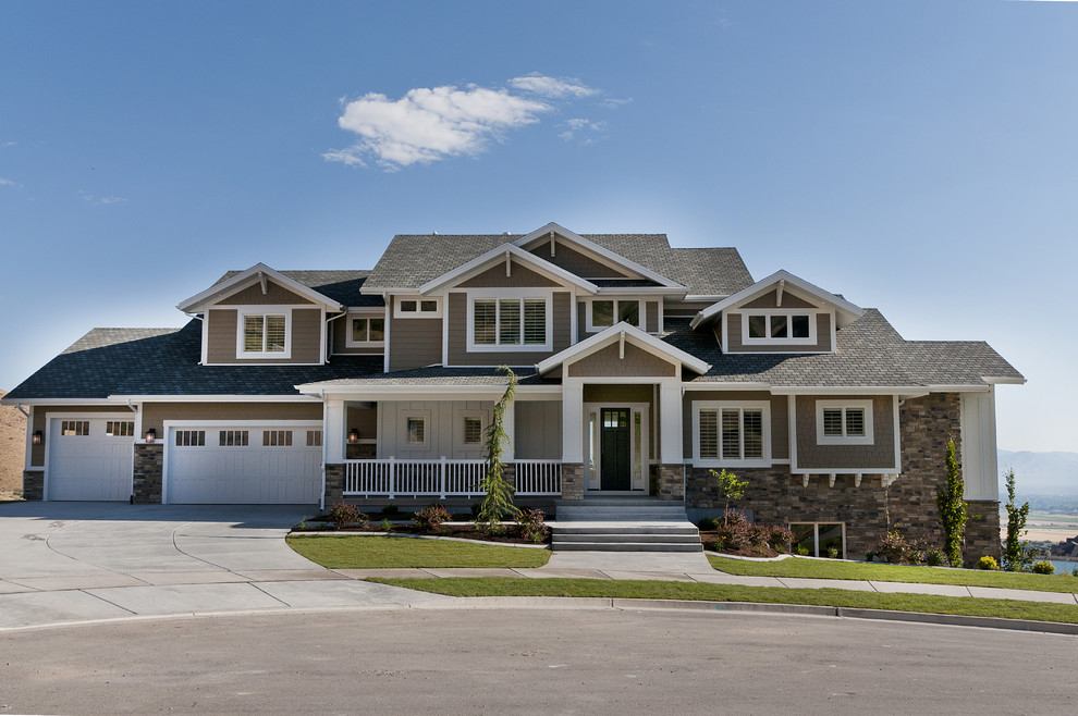 Sheex Reviews Exterior Craftsman with Craftsman Drive Way Front Entrance Garage Lawn Porch Stone Accent Stone Step