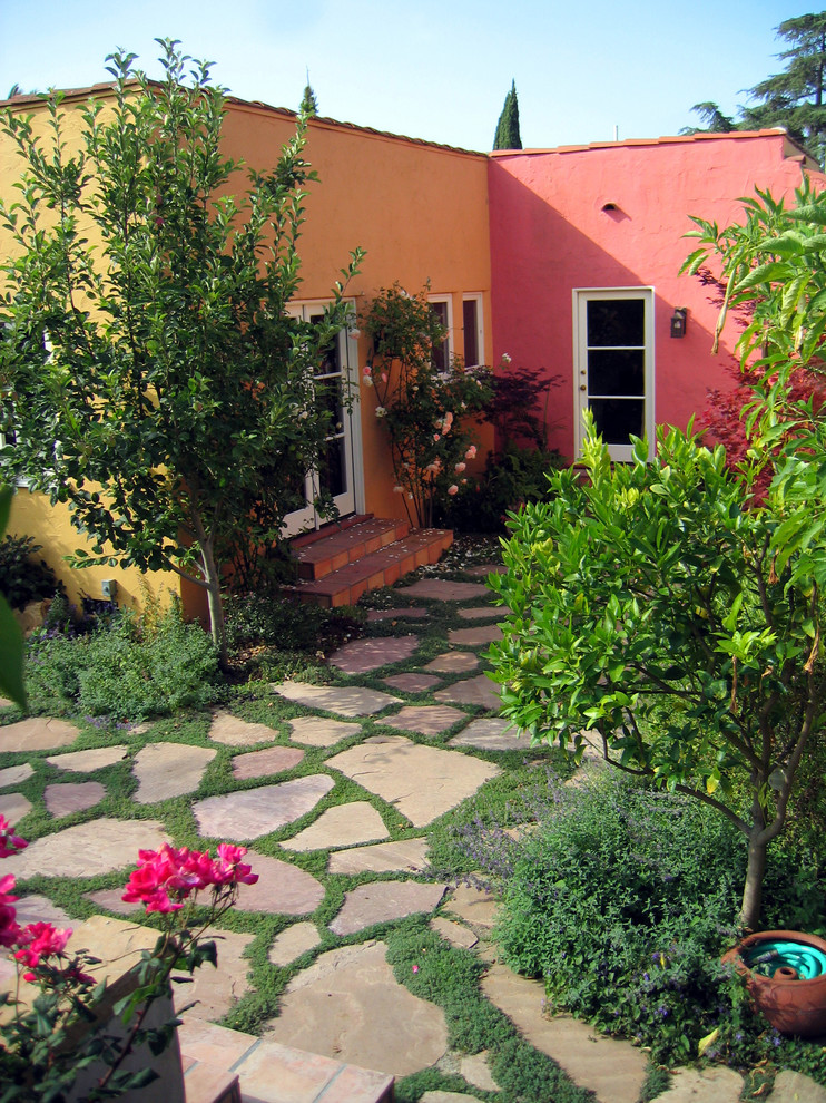 Shelterlogic Replacement Covers Landscape Modern with Bold Colors Colorful Courtyard French Doors Garden Glass Doors Orange Walls Patio