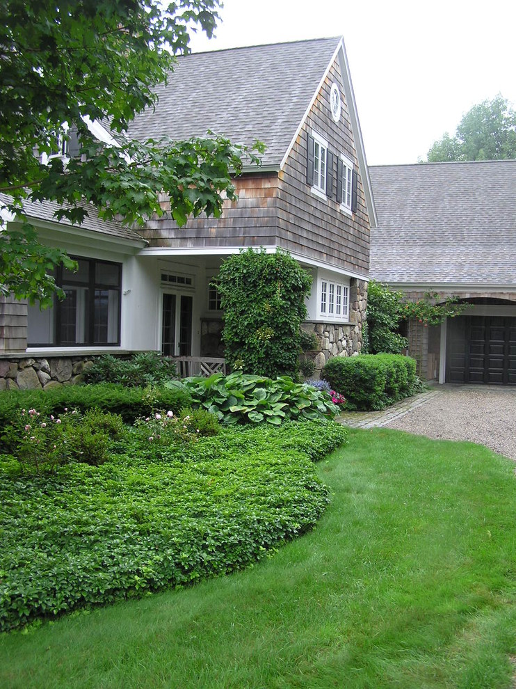 shelterlogic replacement covers Landscape Rustic with Cape Cod style driveway entrance entry garage grass gravel hedge lawn rustic