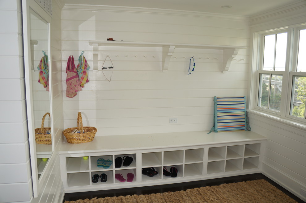 Shoe Cubby Bench Entry Beach with Basket Beach Chair Beach House Closet Coat Hook Entry Landing Strip Locker