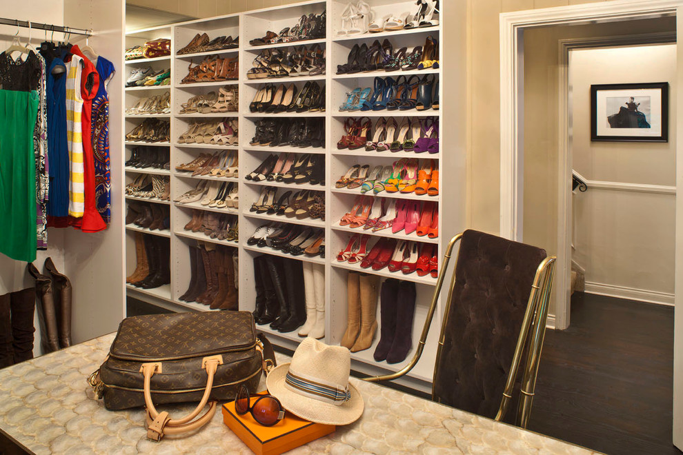 Shoe Storage Ottoman Closet Transitional with Boots Closet Island Clothing Display Gold Hat Louis Vuitton Shoe Rack