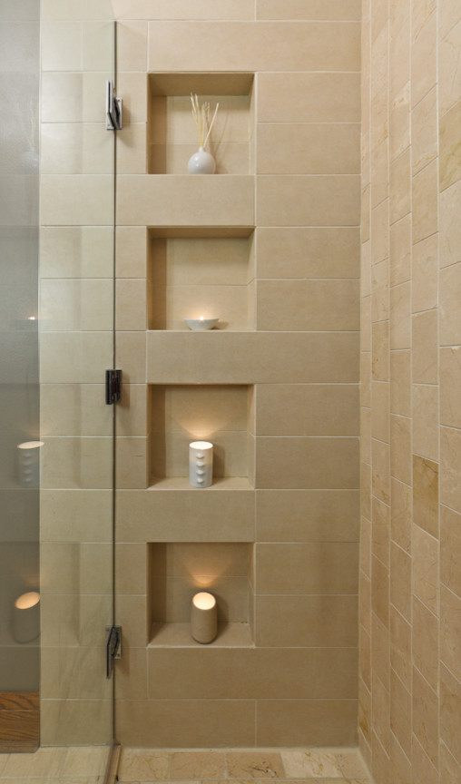 Shower Caddies Bathroom Contemporary with Calla Lilies Ceramic Cylindrical Doors Duravit Glass Shelf Grohe Home Integrate Kenroy