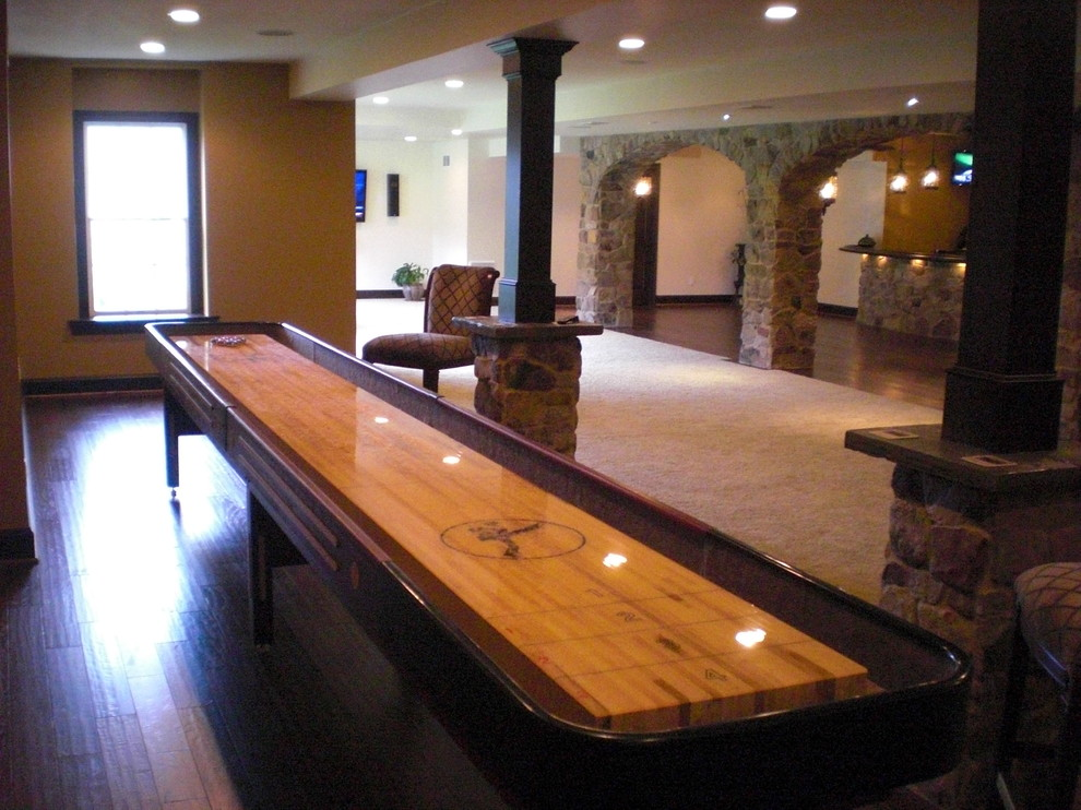 Shuffleboard Table Basement Traditional with Ardmore Basement Design Basement Finishing Basement Ideas Basement Pictures Basement Remodel Basement