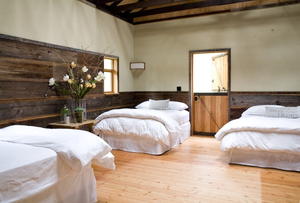silk floral arrangements Bedroom Farmhouse with none