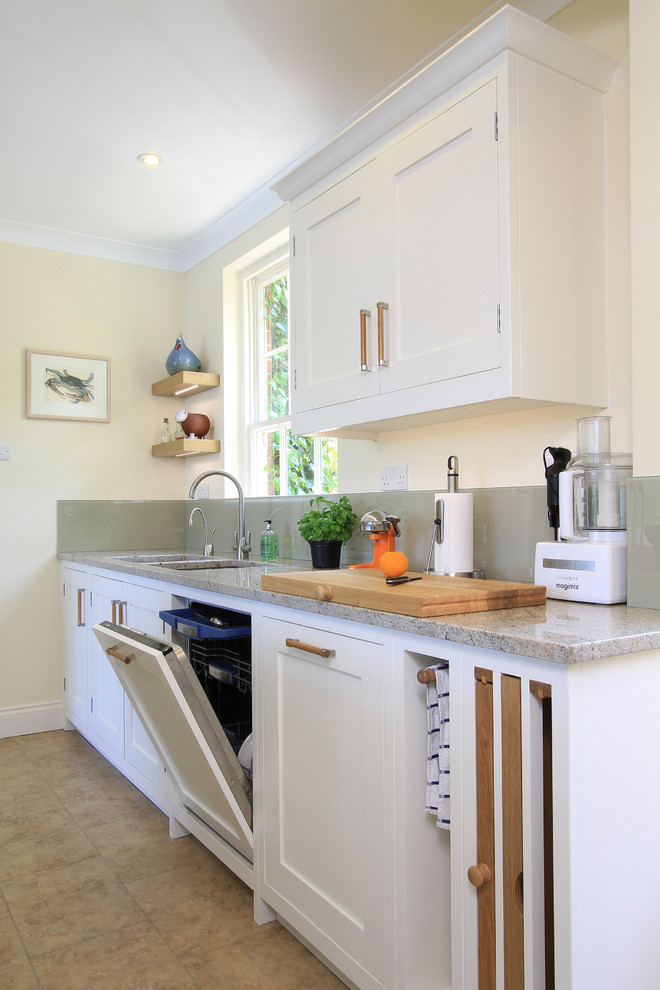 Silverware Tray Kitchen Traditional with Chopping Block Cutting Board Floating Shelves Frame and Panel Cabinets Glass Backsplash