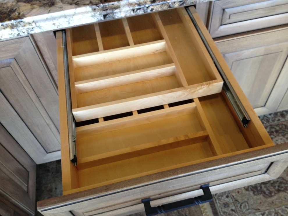 Silverware Tray Spaces Traditional with Cabinets Features Granite Hardwear Hunts Home Interiors Hunts Home Interiors Design Kitchen