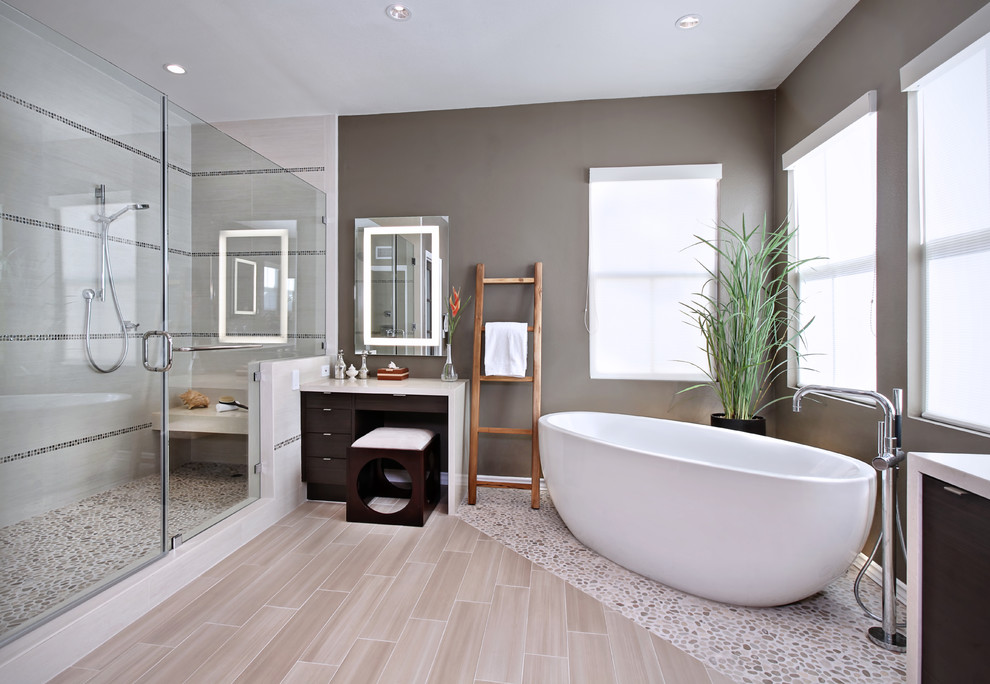 sitcom furniture Bathroom Contemporary with accent tile bathroom flooring bathroom mirror Caesar Stone Counter Top dressing table