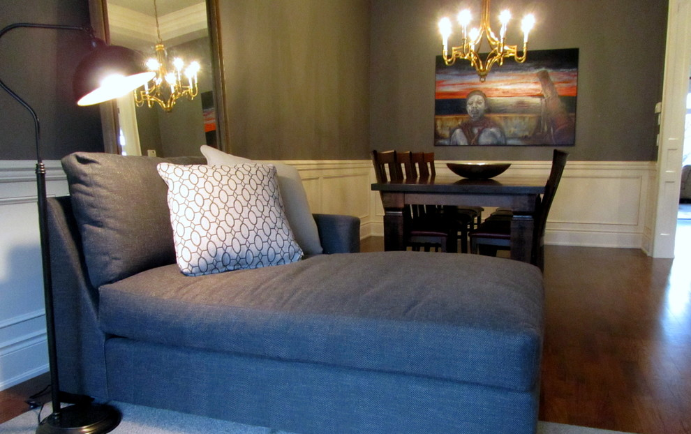 Sleeper Sectional Sofa Spaces Transitional with 10 Ceilings Antique Brass Chandelier Burgundy Leather Seats Colourful Art in Monochromatic