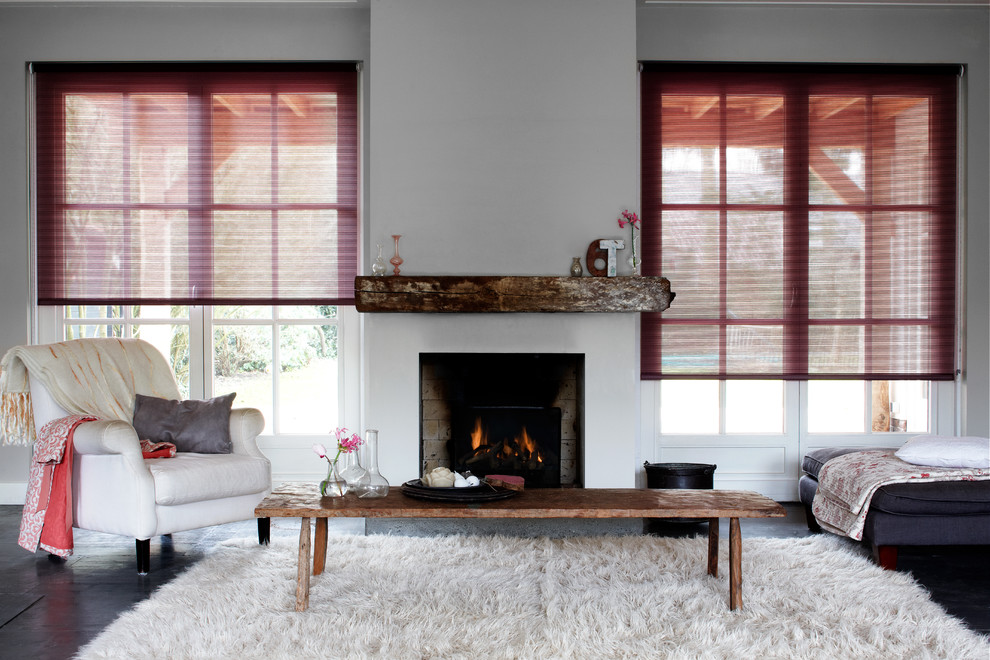 Sleeper Sofas Living Room Contemporary with Light Filtering Shades Red Accents Red Roller Shades Red Shades Roller Shades Shades