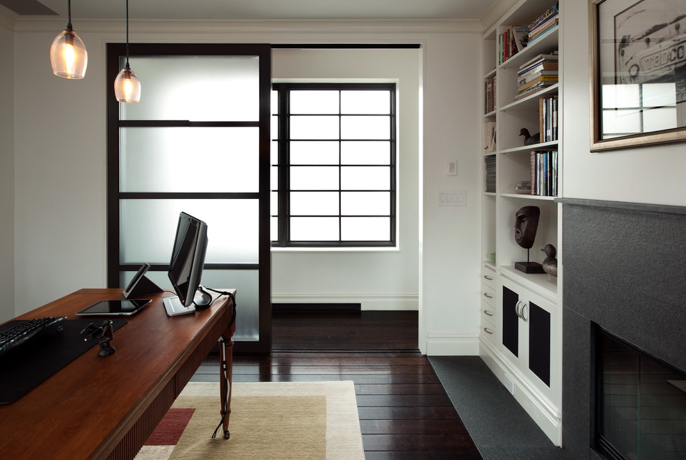Sliding Panels Home Office Modern with Categoryhome Officestylemodernlocationnew York