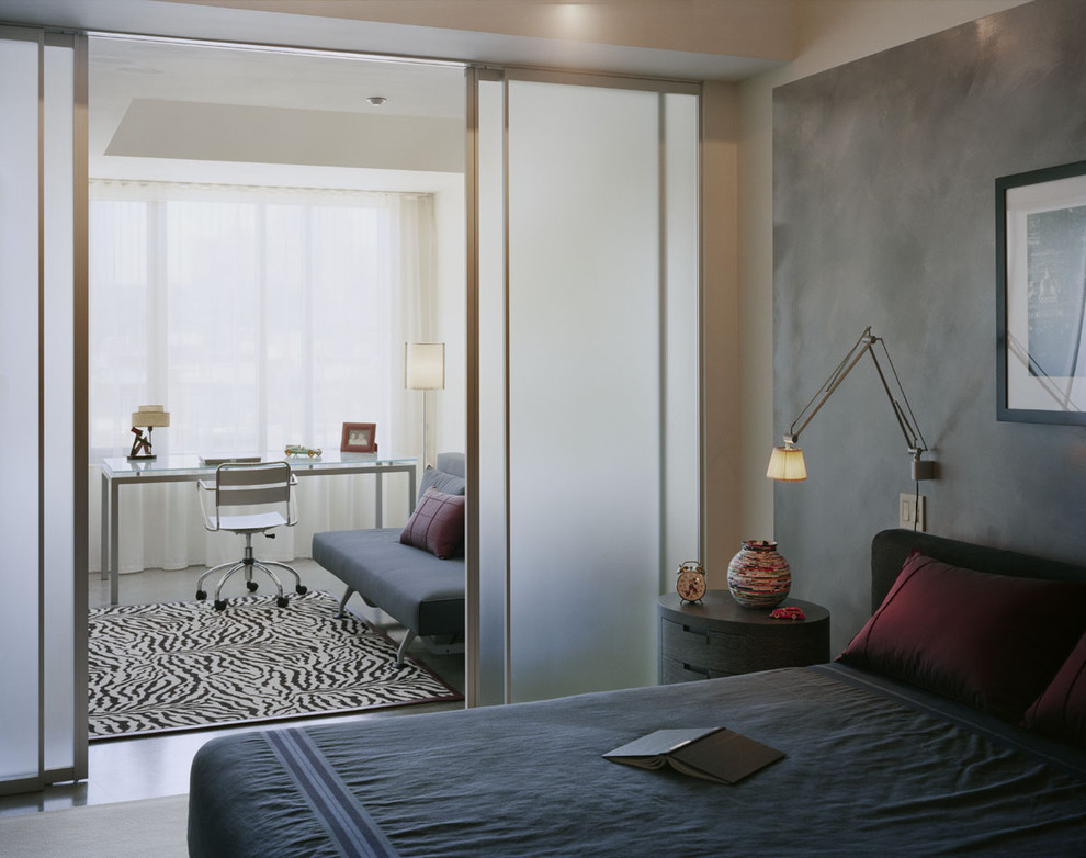 Sliding Room Dividers Bedroom Modern with Accent Wall Archimoon Area Rug Art Bedside Light Bedside Table Collections Custom