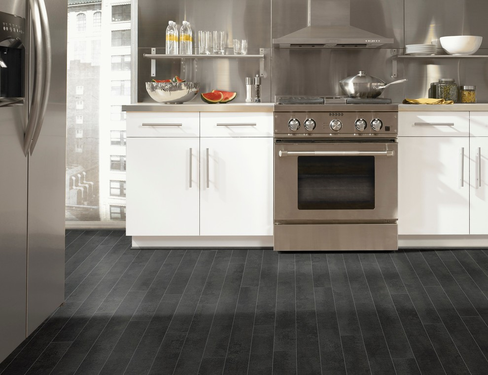 Slipcovered Sectional Kitchen Contemporary with Flooring Kitchen Kitchen Flooring Kitchen Ideas Kitchen Laminate Kitchen Remodeling Laminate Flooring