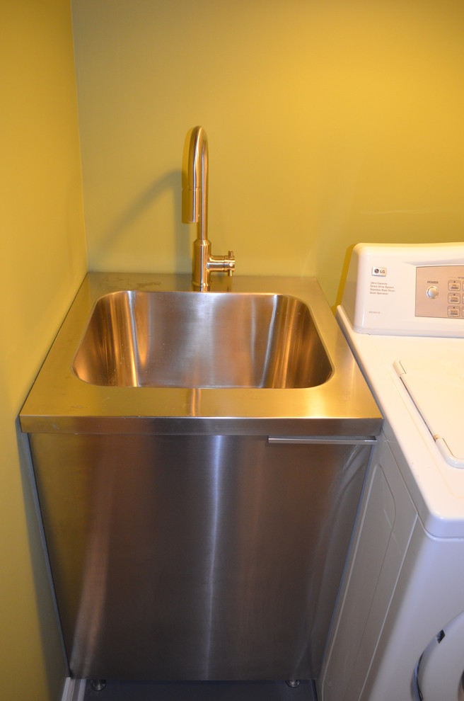Slop Sink Basement Contemporary with None
