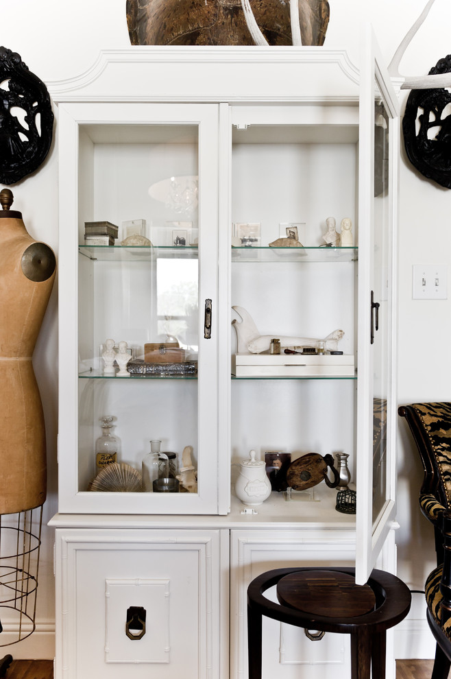 small curio cabinet Bedroom Eclectic with armoire black and white collection dining hutch display cabinet dress form glass