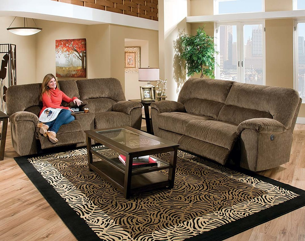 Sofa and Loveseat Set Family Room with Couches Reclining Sofa and Loveseat Set