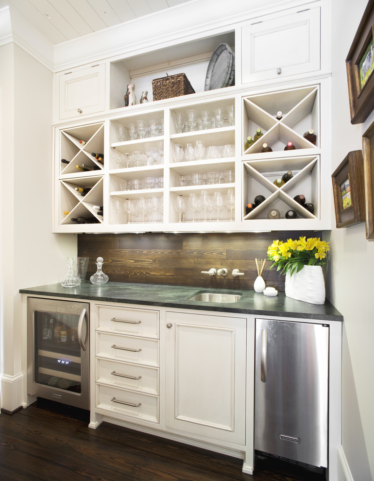 Soft Ice Cream Maker Home Bar Traditional with Bar Sink Diamond Wine Rack Flip Up Cabinets Home Bar Open Shelves