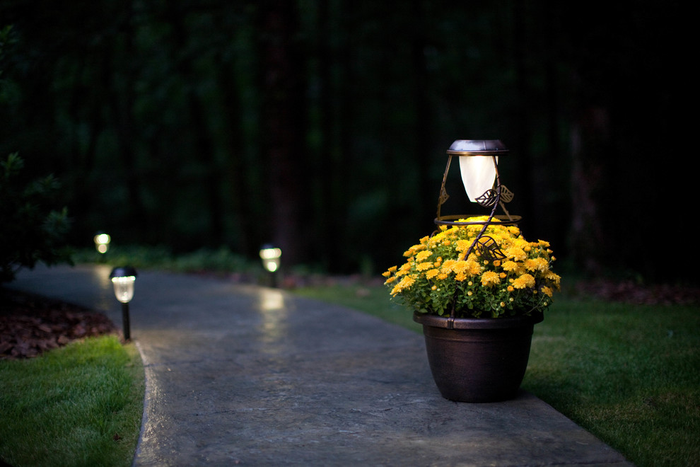Solar Powered Outdoor Lights Entry Traditional with Outdoor Lighting Solar Light Solar Radiance Solar Powered Lighting Solution