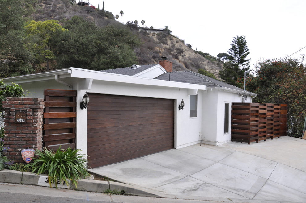 Solar Rope Lights Exterior Contemporary with Concrete Driveway Contemporary Exterior Ipe Midcentury Modern House Modern Garage Door Trash