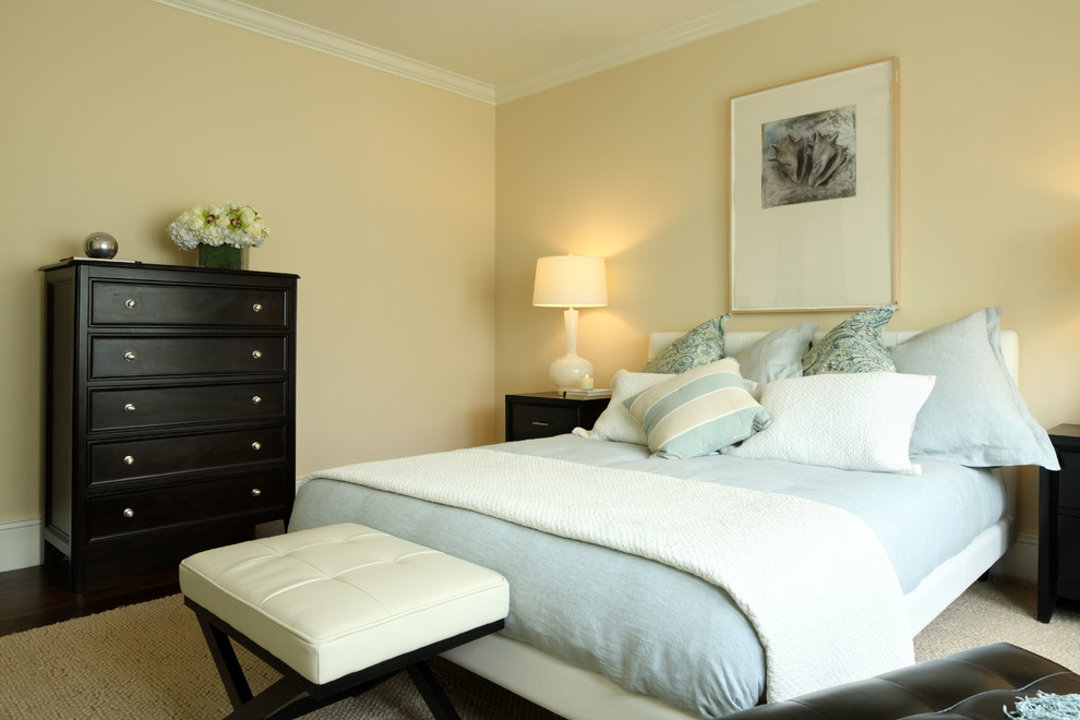 Solid Wood Platform Bed Bedroom Traditional with None