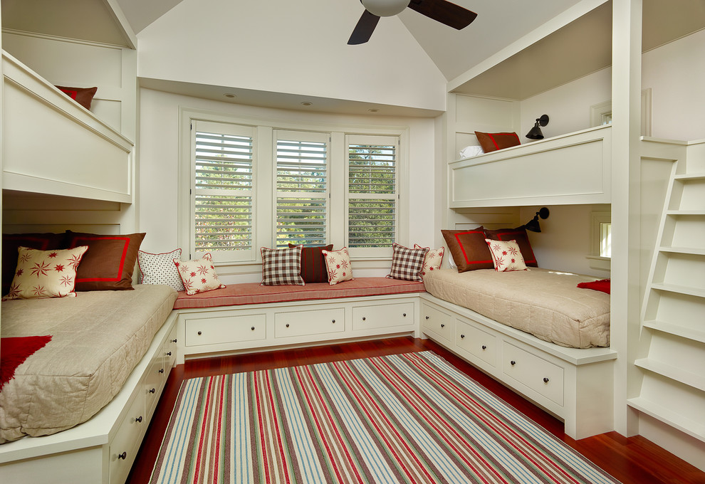 south shore platform bed Kids Traditional with area rug bed lighting Bedroom built in drawers bunk beds bunk room