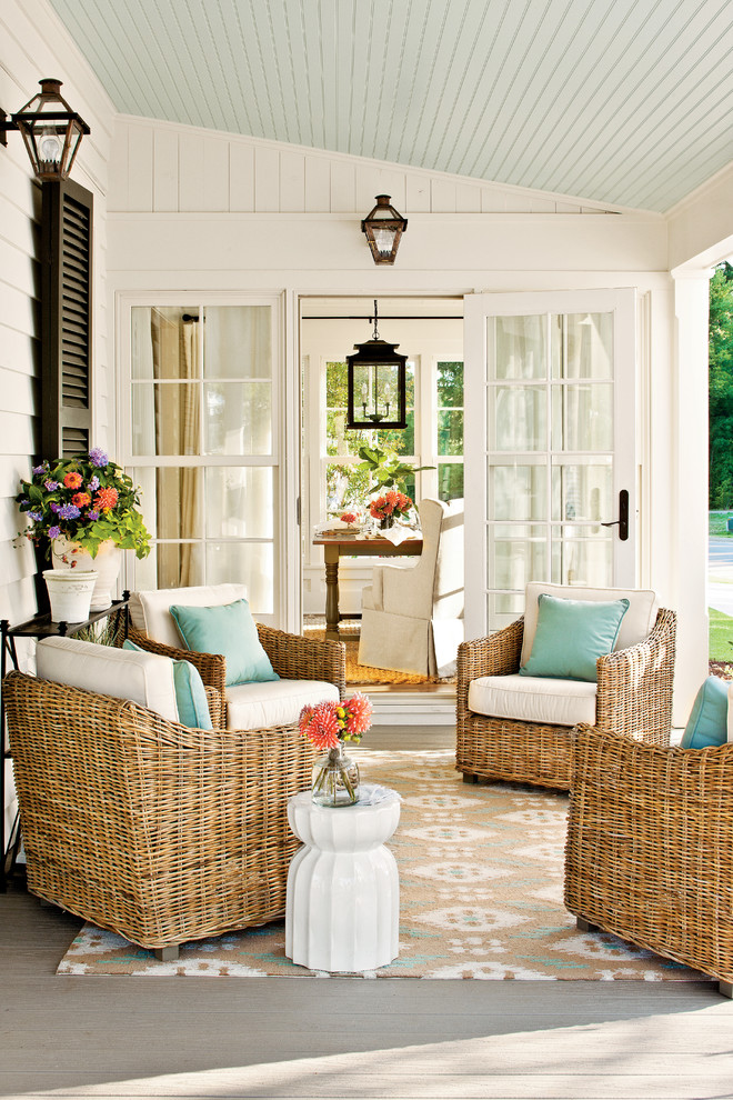 southern motion furniture Porch Farmhouse with black shutters cottage covered porch farmhouse french doors lantern renovation porch shutters