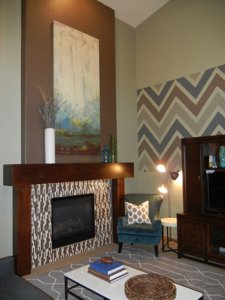 Sphinx Rugs Family Room Eclectic with Ballard Designs Chevron Chevron Paint Crate Barrel Custom Mantle Dwell Studio Forma