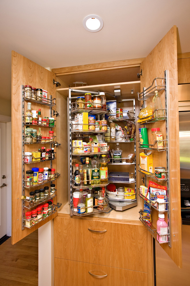 Spice Containers Kitchen Contemporary with Blumotion Concrete Countertop Concrete Kitchen Countertops Custom Kitchen Cabinets European Style Cabinets