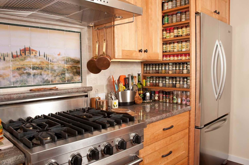 spice racks Kitchen Mediterranean with Custom built spice rack